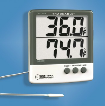 Termometre cu sonda din  material plastic cu cablu