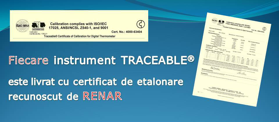 Certificat de etalonare Traceable