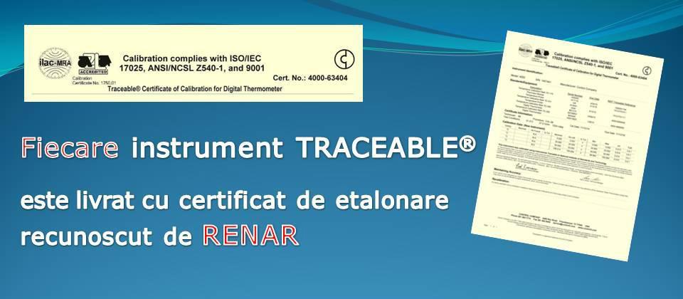 Certificat de etalonare Traceable